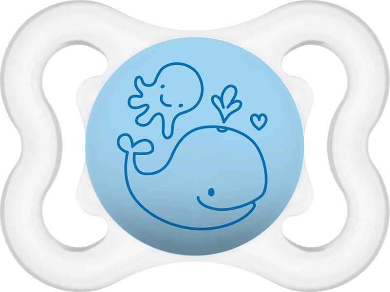 Air smoczek niebieski z wielorybem 2-6M+ (MAM099)