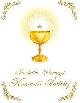 Pamiątka I Komunii Św.