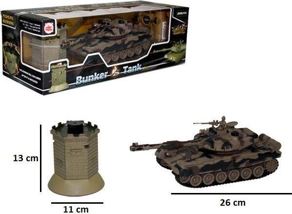 Czołg z bunkrem RC z ładowarką