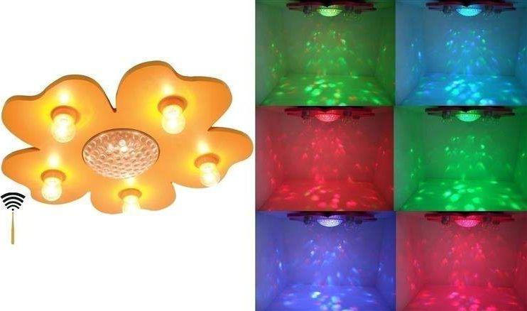 Plafon Szczęśliwy kwiatek RC (pomarańcz) uniw
